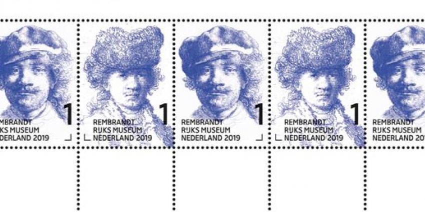 Gouden postzegels van Rembrandt