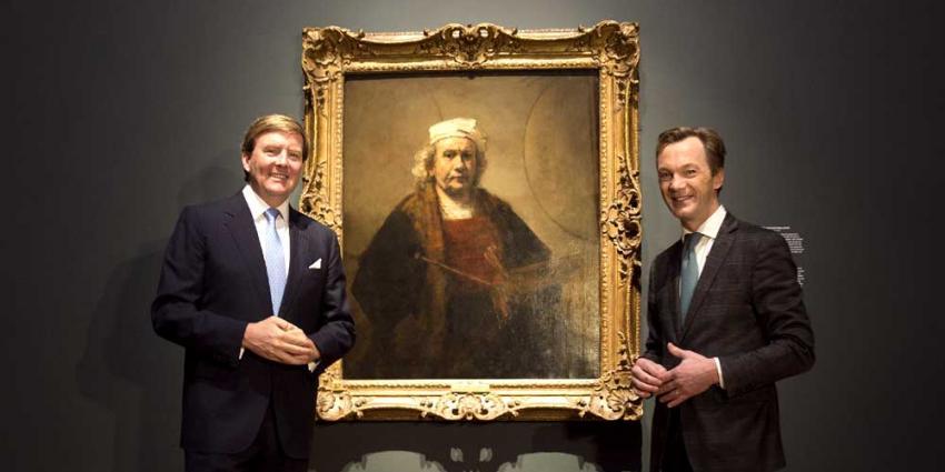 Koning opent unieke Rembrandt-tentoonstelling in Amsterdam