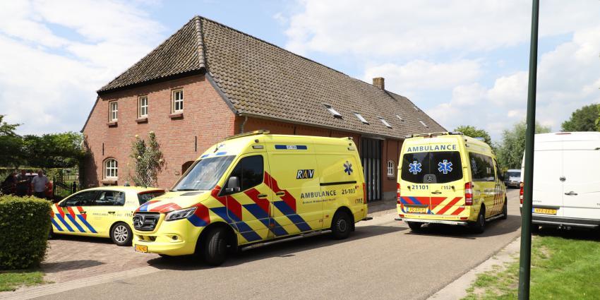 Ambulance bij woningbrand in Boxtel