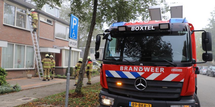 Brandweer kijkt of bewoners thuis zijn