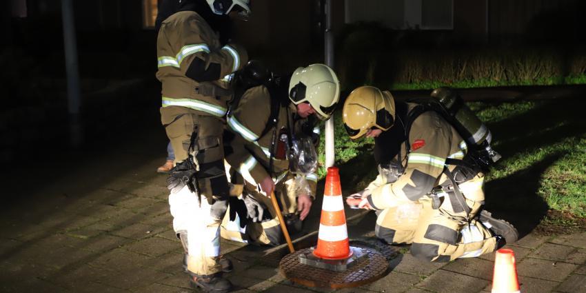 Brandweer inspecteert riool