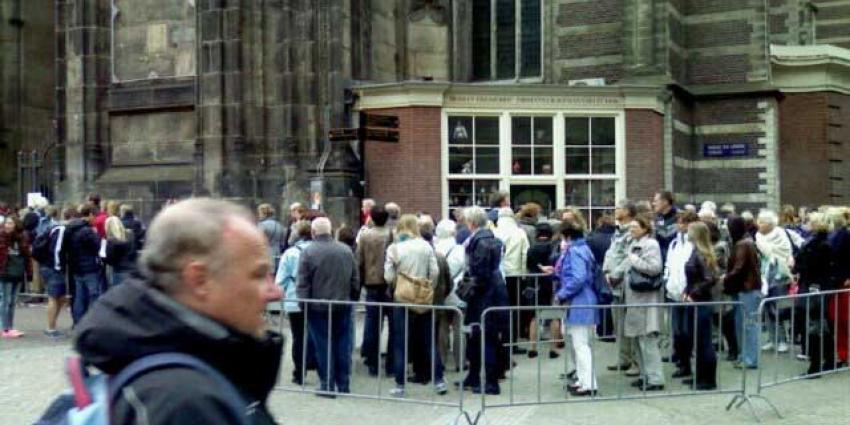 foto van rij Nieuwe Kerk   Annet van den Berg