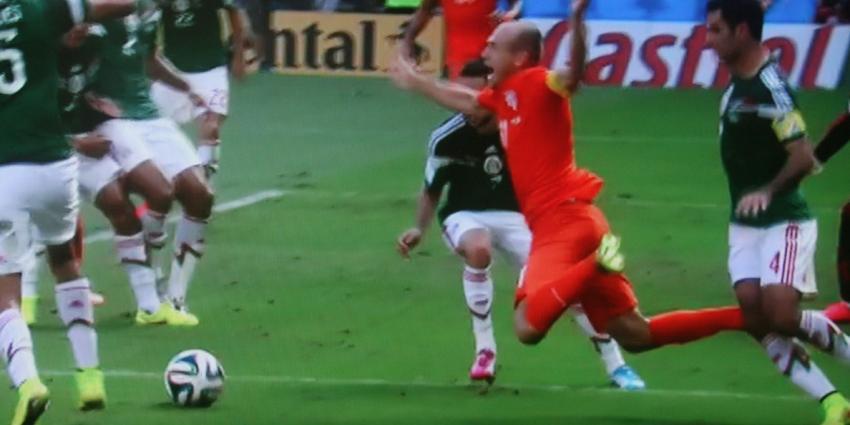 Robben populaire WK-ganger op Facebook