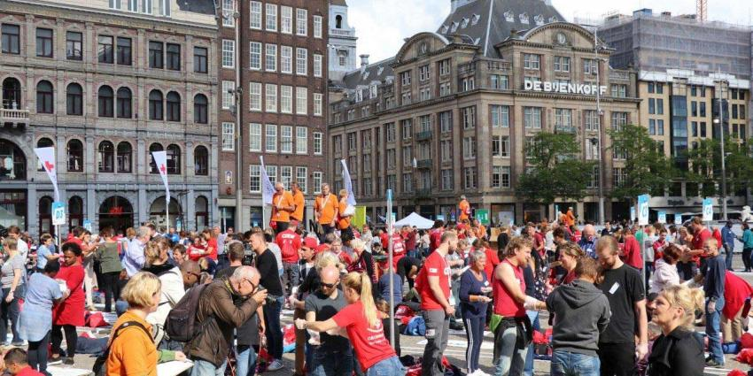 Rode Kruis vestigt nationaal EHBO record, maar mist wereldrecord