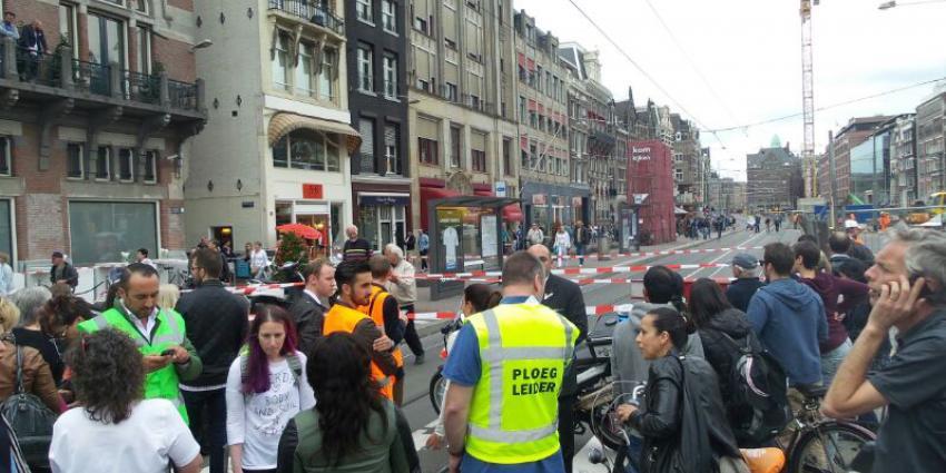 Foto van ontruimd Rokin na bommelding | Miranda van der Sloot