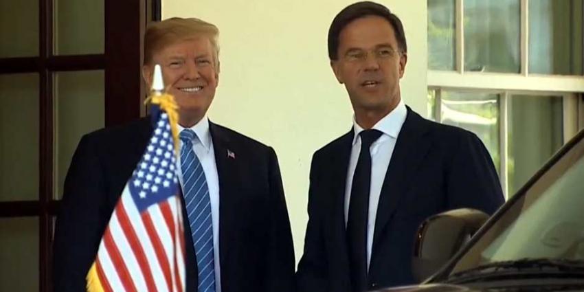 Rutte op werkbezoek bij Trump in het Witte Huis