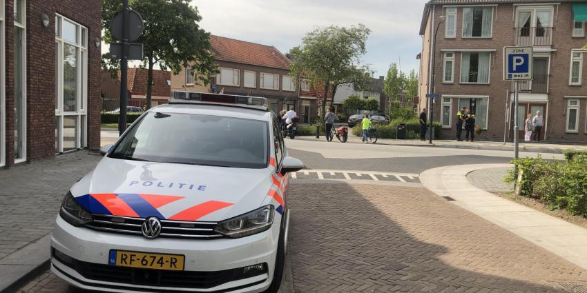 Foto van politieauto bij ongeval