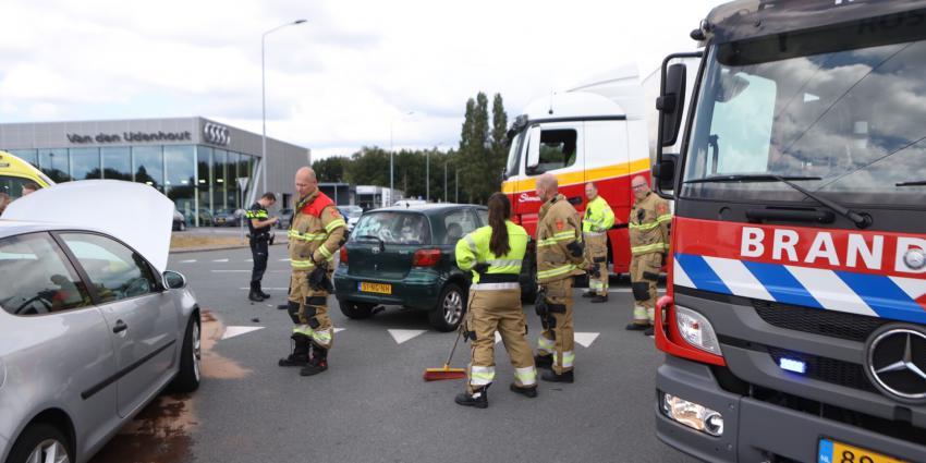 Hulpdiensten bij aanrijding in 's Hertogenbosch