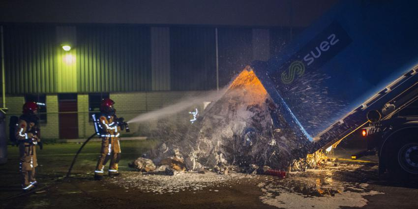 Brand in perscontainer