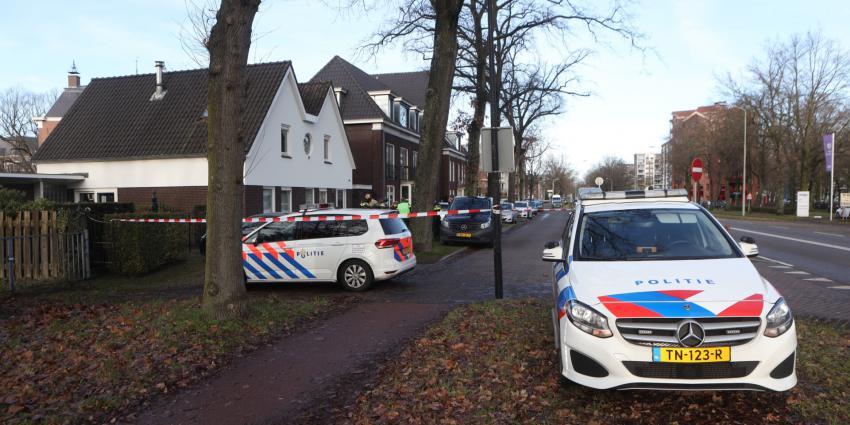 Politie heeft omgeving van woning afgezet
