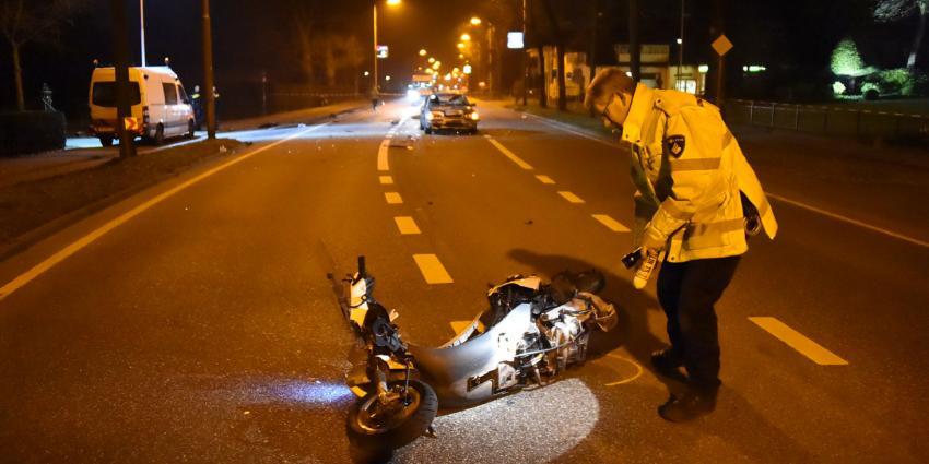 Scooterrijder gewond na ongeval