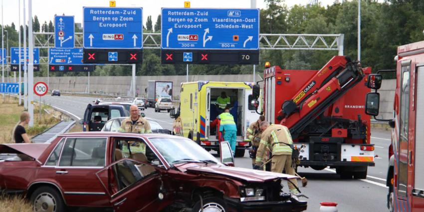 A4 dicht na forse aanrijding