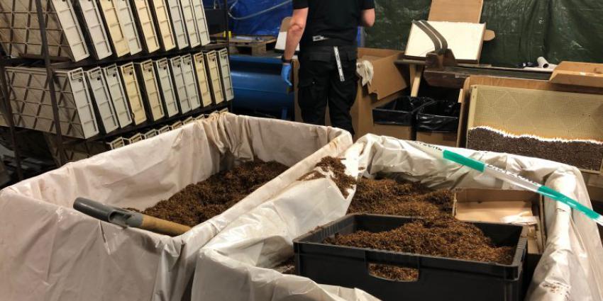 In beslag genomen tabak in Schaijk