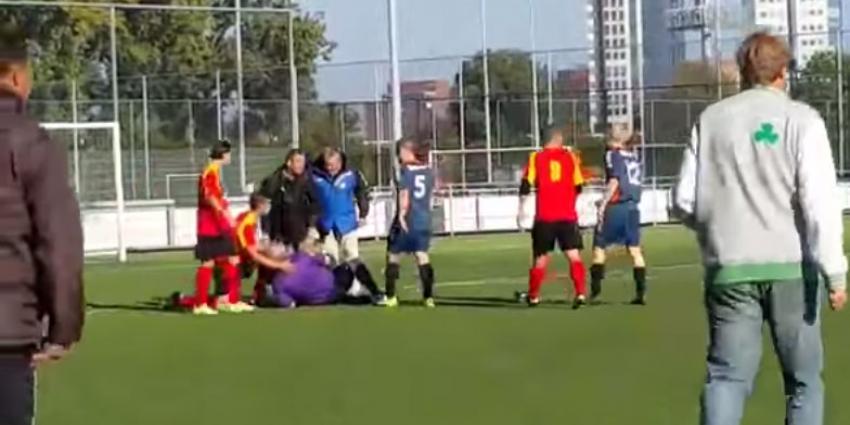 Het was dit weekend geweld(ig) op de voetbalvelden voor amateurs
