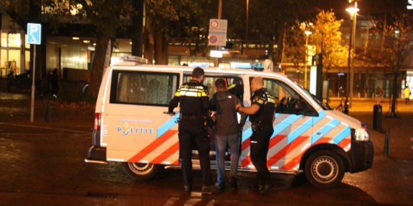 Confrontatie op treinstation na oproep op social media, politie houdt twee personen aan