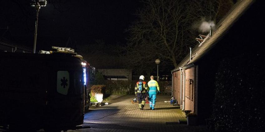 Hevige rookontwikkeling bij woningbrand in Schijndel. Bewoners ter controle naar het ziekenhuis.