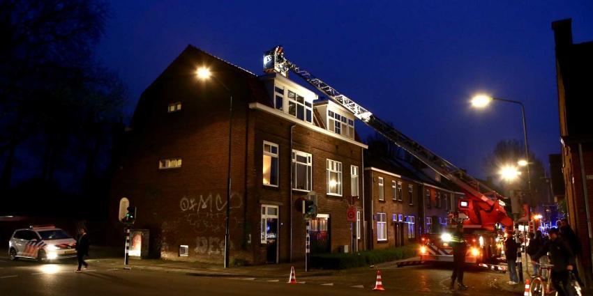 Ladderwagen ingezet bij schoorsteenbrand aan de Molenstraat in Boxtel