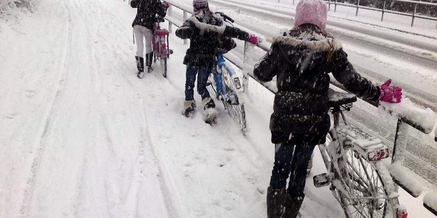 Waarschuwing voor gladheid door sneeuw