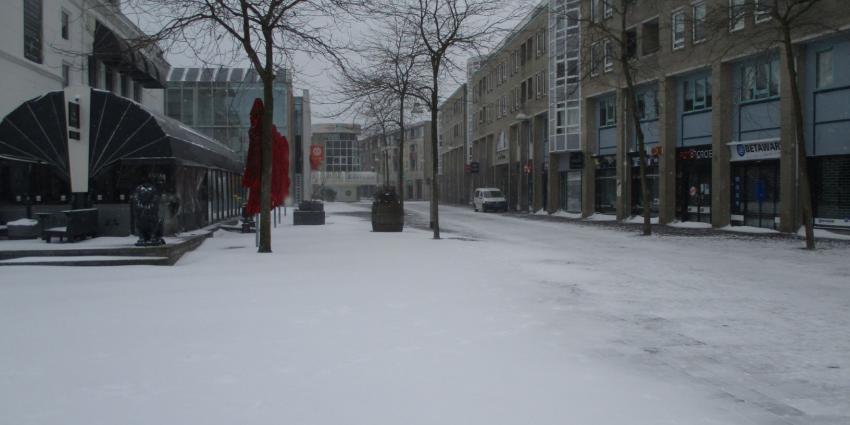 sneeuw in Heerenveen
