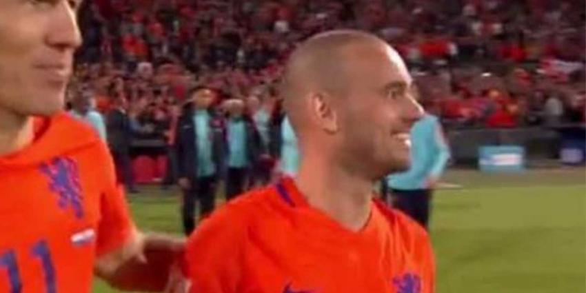 Wesley Sneijder niet meer in het Oranje-shirt