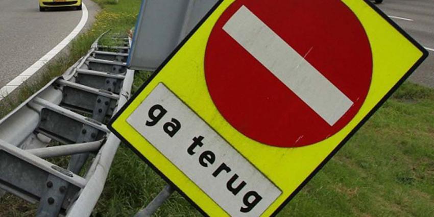 Spookrijder veroorzaakt ongeval op A58. Twee mensen gewond