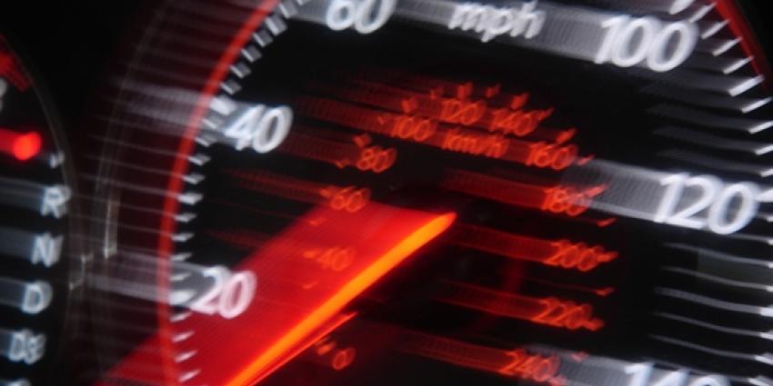 Snelheidsduivel rijdt 100 km te hard
