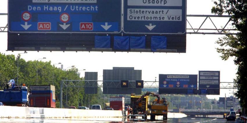 Ringweg A10 Amsterdam-West zomervakantie afgesloten voor onderhoud