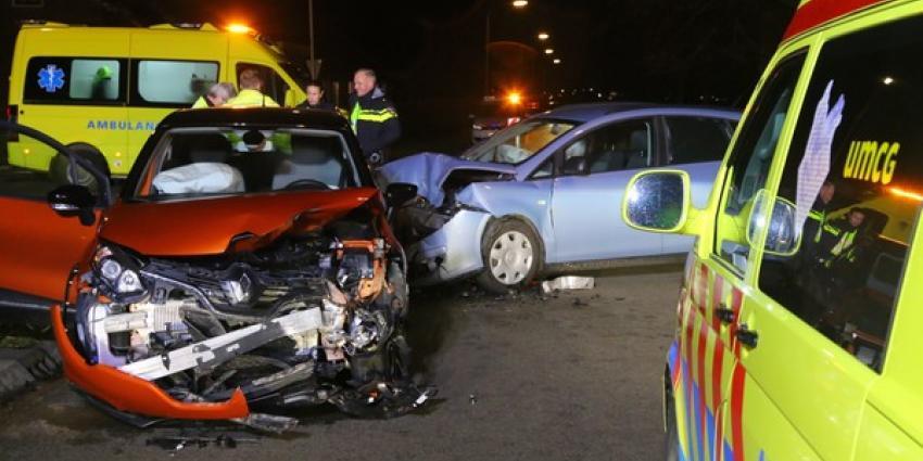Drie gewonden bij botsing in Drentse Spijkerboor