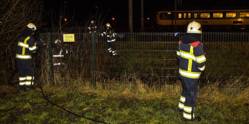Brand op het spoor in Boxtel