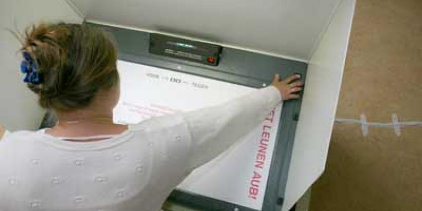 Foto van stemcomputer verkiezingen | Archief EHF