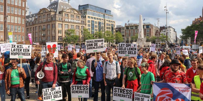 'verhoging van de studieschuld'