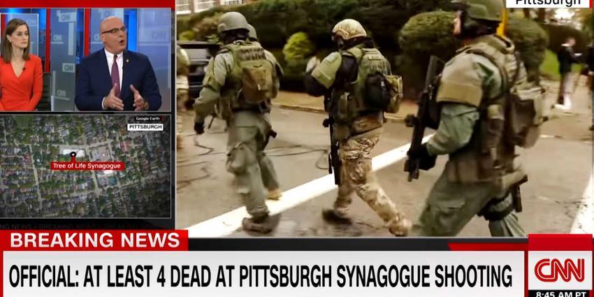 Man schiet 8 mensen dood in synagoge Pittsburgh