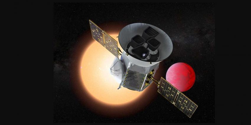 Nieuwe ruimtelescoop Tess wordt met SpaceX Falcon 9 raket gelanceerd