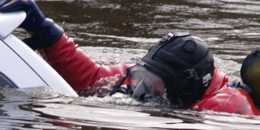 Dode en twee gewonden na auto te water