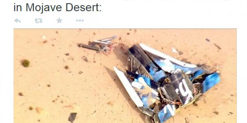 Ruimtevliegtuig SpaceShip Two neergestort
