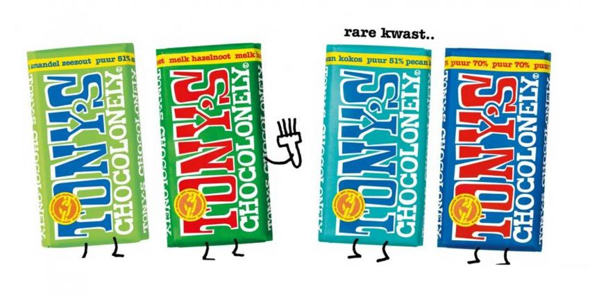 Waarschuwing kwastharen in repen Tony's Chocolonely