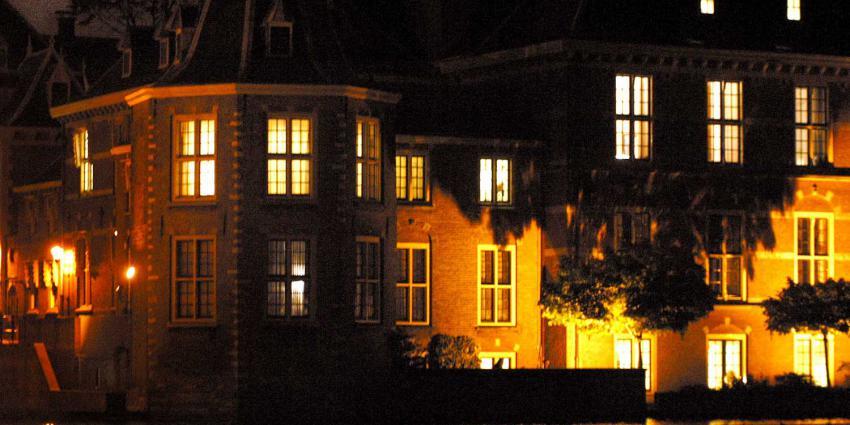 torentje-rutte-hofvijver-avond-donker