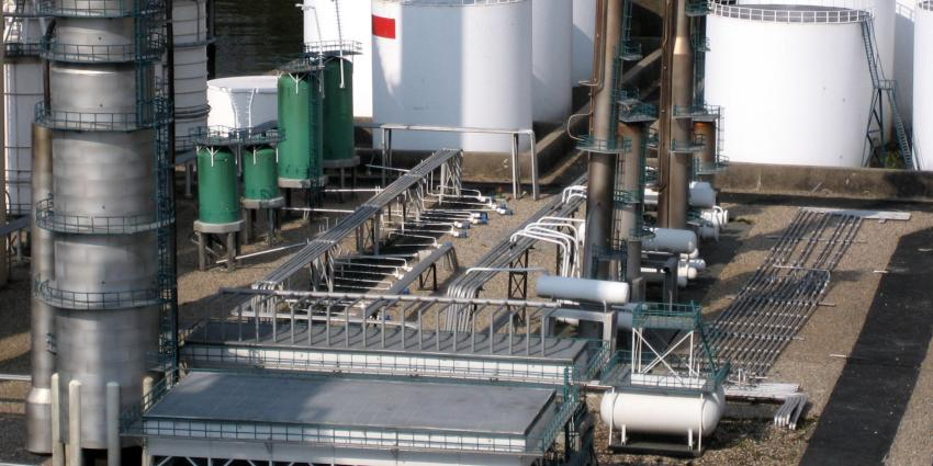 foto van ontploffing bij olieraffinaderij Total | fbf