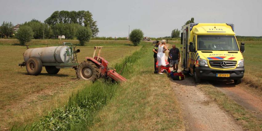 Man overreden door eigen tractor