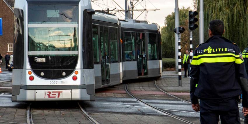 RET-tram ontspoord