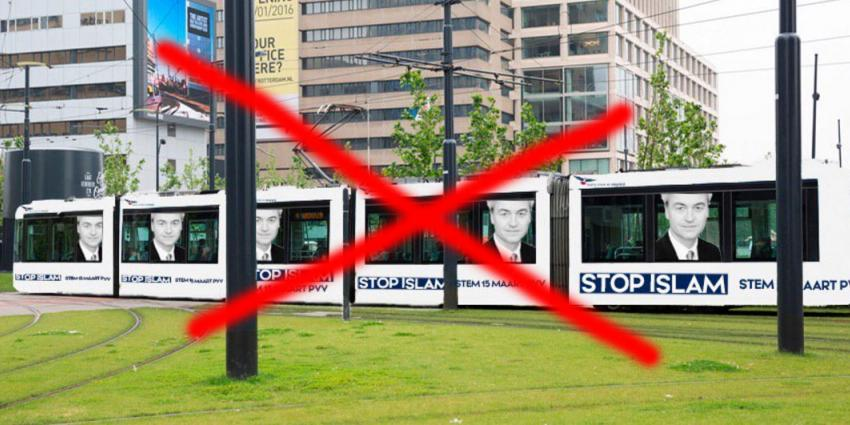 RET weigert reclame PVV op tram met leus: 'Stop Islam'