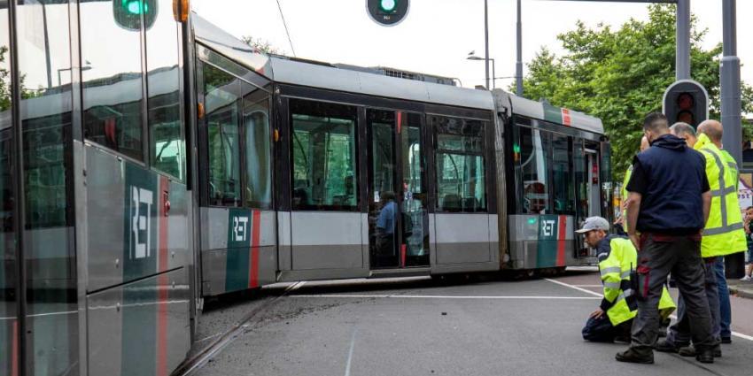 Rotterdamse tram ontspoord