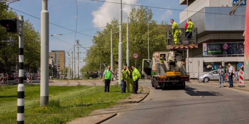 Foto van gebroken tramleiding | Flashphoto | www.flashphoto.nl