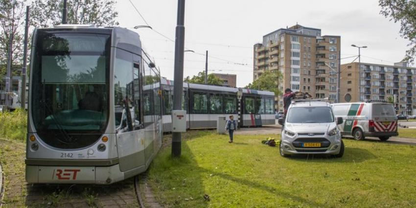 Tramverkeer Schiedam plat na ontsporen tram