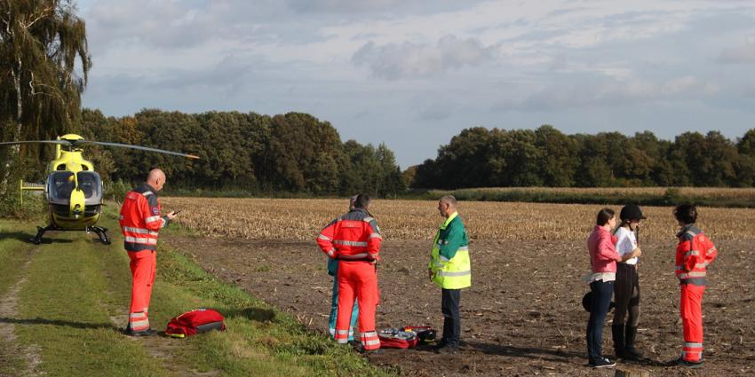 Foto van traumaheli en ruiter | Willy Smits | www.112journaal.nl
