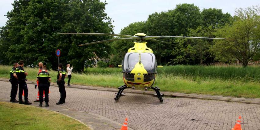 Traumahelikopter voor reanimatie Schiedam