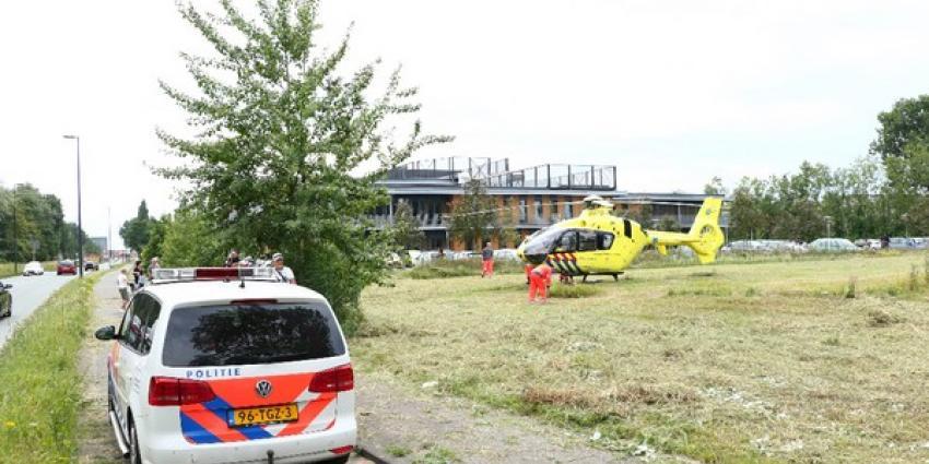 Traumahelikopter ingezet bij incident op volkstuintjes