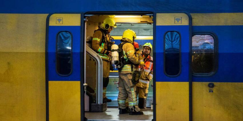Treinen in brand gestoken in Haarlem