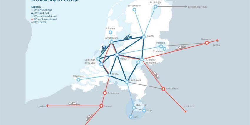 Snelle trein naar Duitsland en binnenlands metrostelsel van treinen