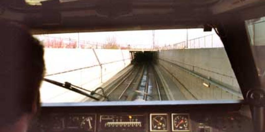 Foto van cabine trein machinist | Archief EHF